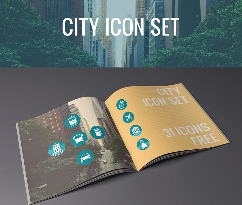 Set Of 31 City Icons Free Download