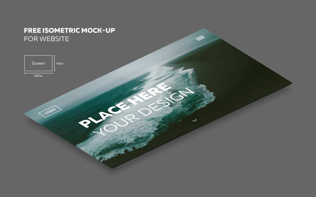 Modern Isometric PSD Mockup Free Download