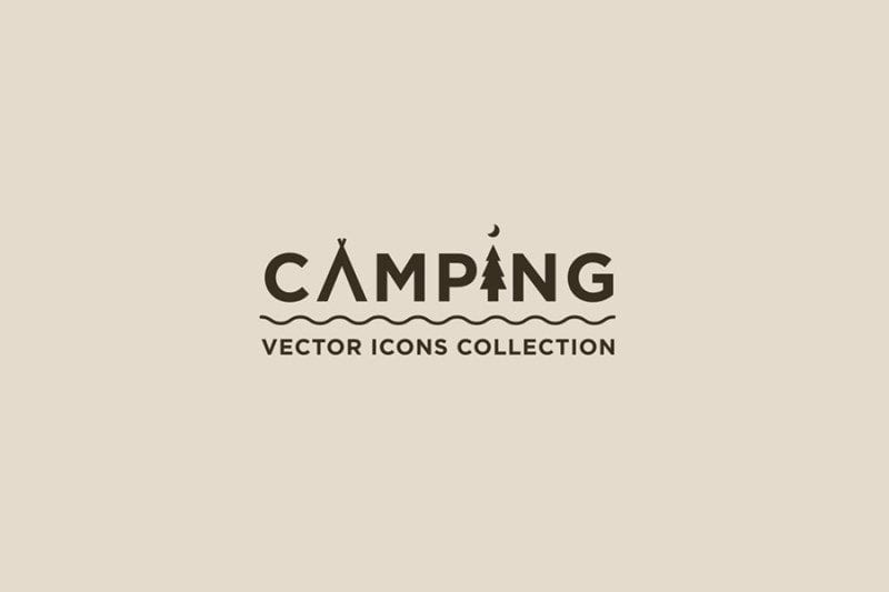 Set Of Free Vector Icons: Camping