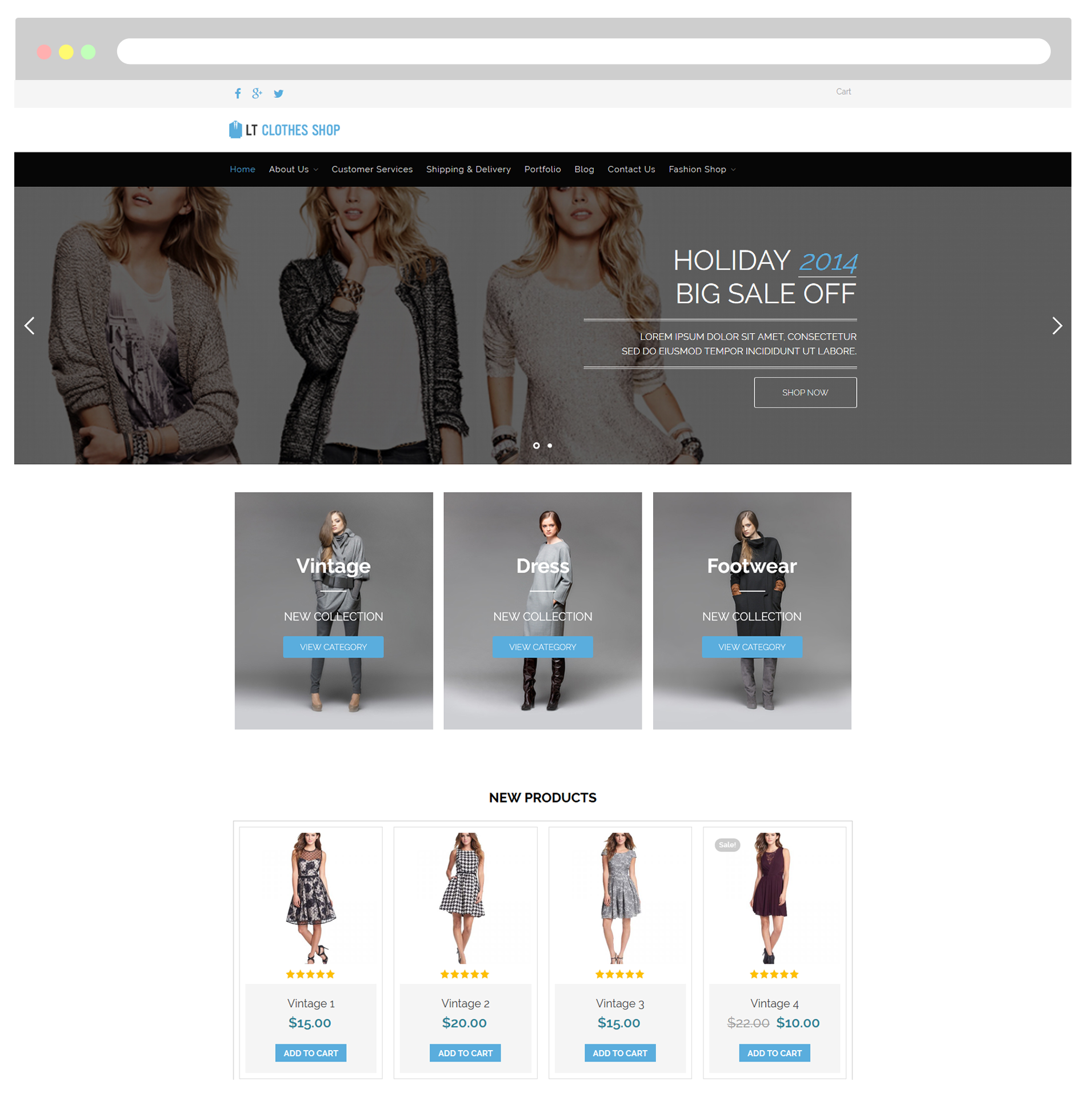 LT Clothes Shop – Free Responsive Online Shopping Cart / WordPress ...