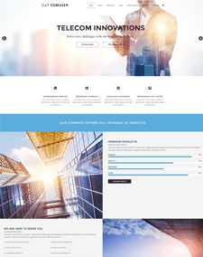 LT Comuser Onepage – Free Single Page Responsive Communications Service Provider Joomla template