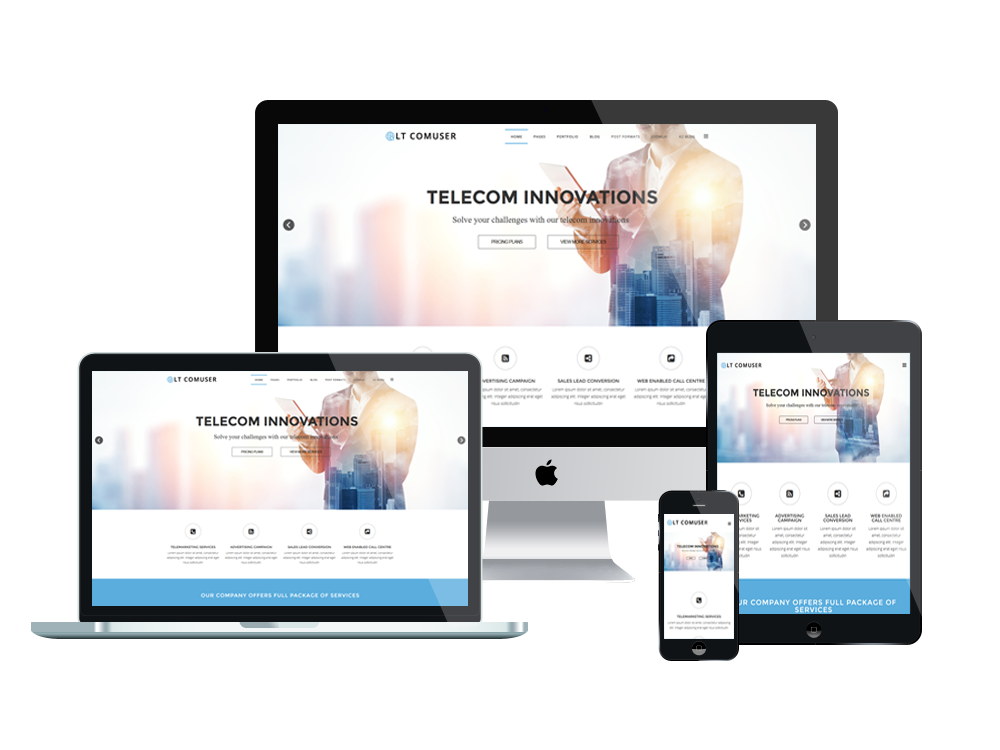 LT Comuser Free Joomla Communication Template - Joomla landing page template