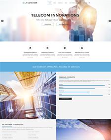 LT Comuser – Free Responsive Communications WordPress Theme