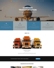 LT ProTrans Onepage – Free Responsive Automotive / Transport Onepage WordPress theme