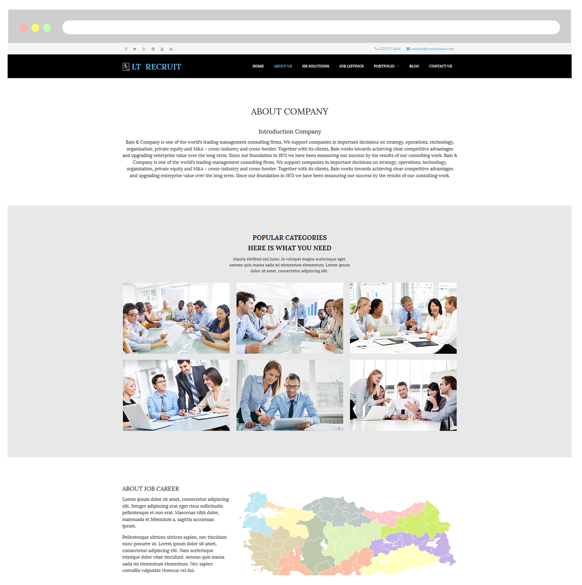 LT Recruit – Free Responsive Job Board / WordPress Recruitment Theme