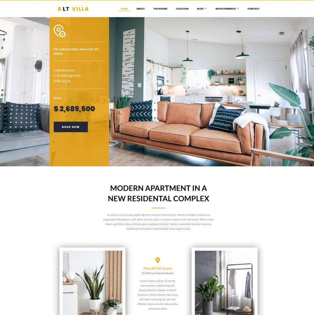 LT Villa WordPress theme