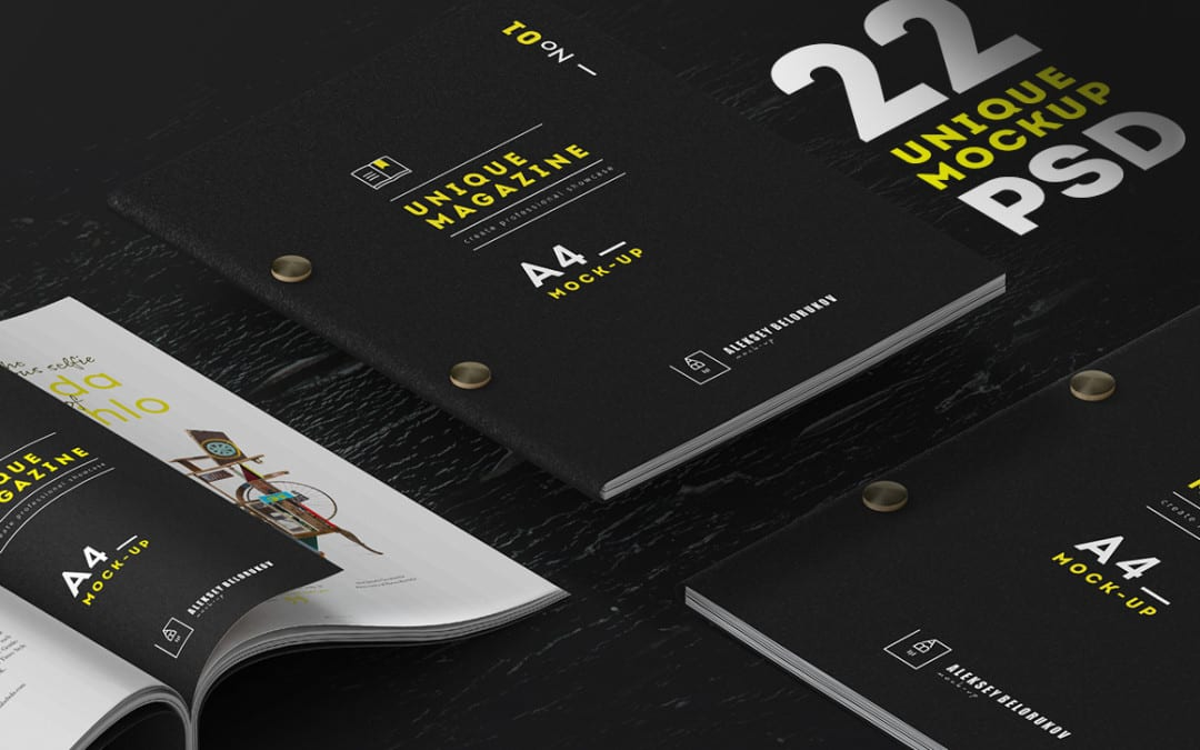 Creative Magazine Mockups Free Download