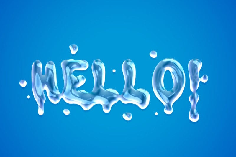 Liquid Text Effect Free