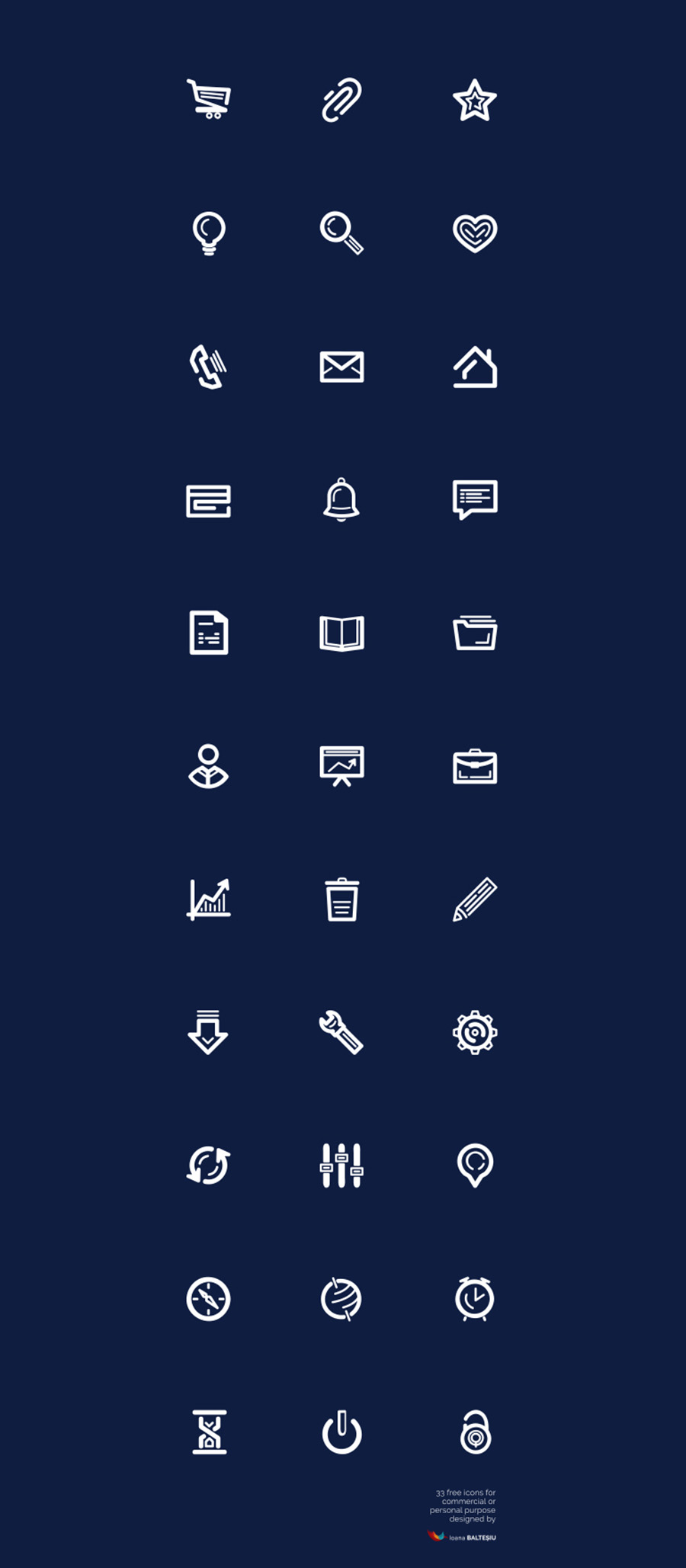 33 Essential Free Vector Icons