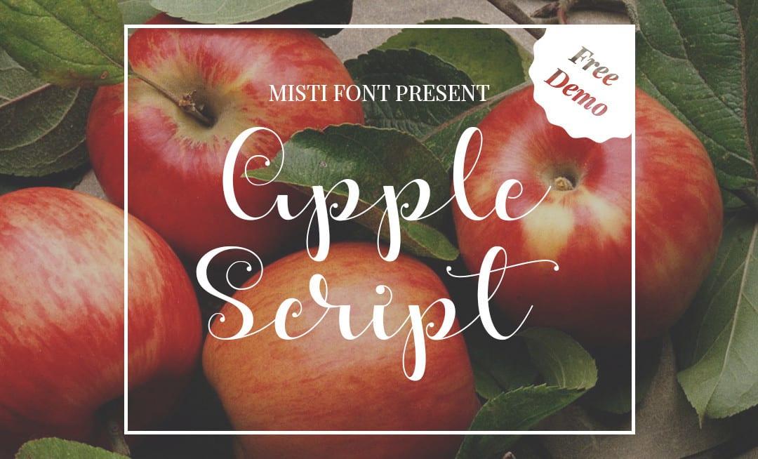 Apple – Beautiful Script Free Demo Font