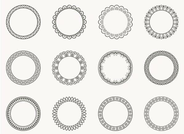 Decorative Round Frames Free Vectors