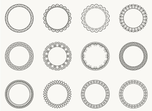 Decorative Round Frames Free Vectors