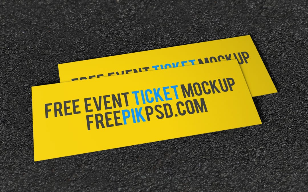 Event Ticket Free PSD MockUp