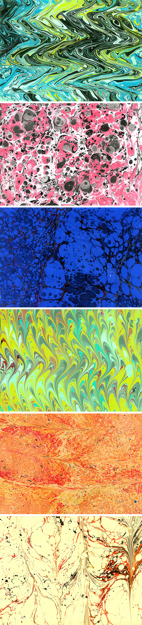 Paper Marbling Free Textures