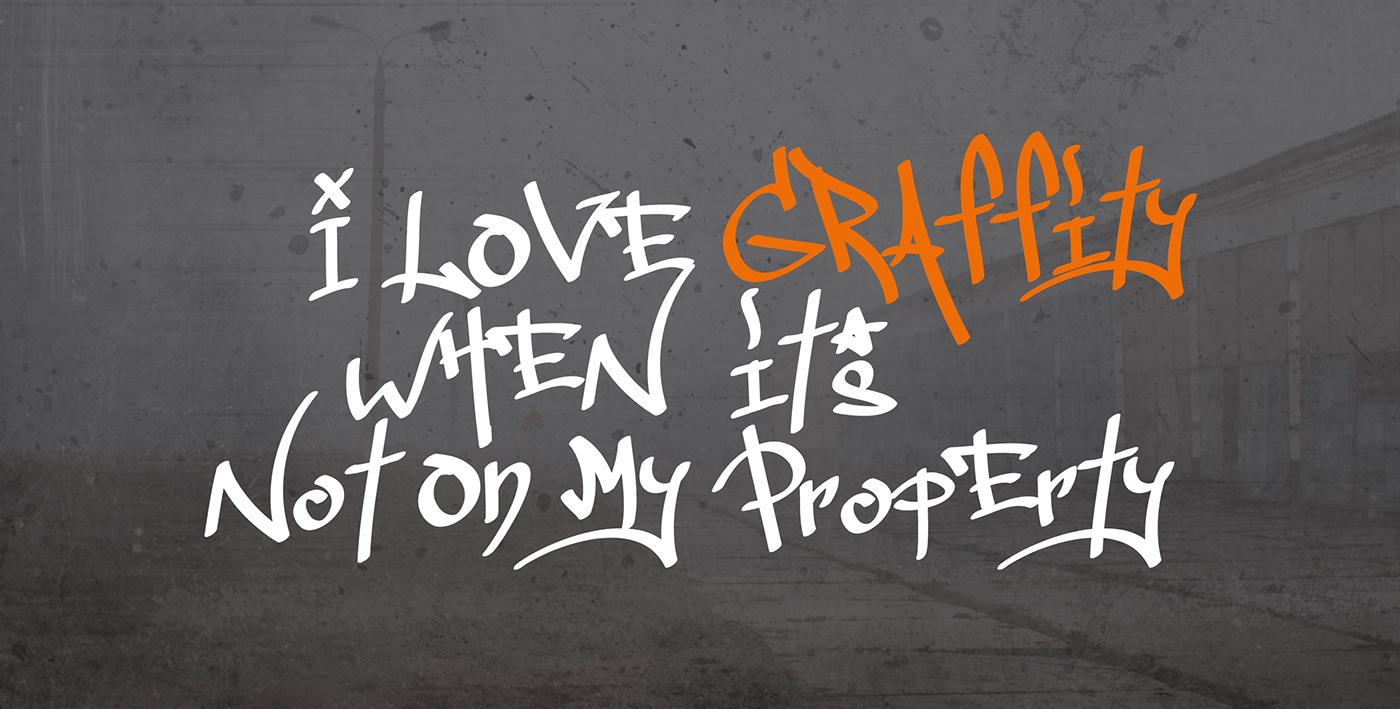 tag type unique graffiti free font download