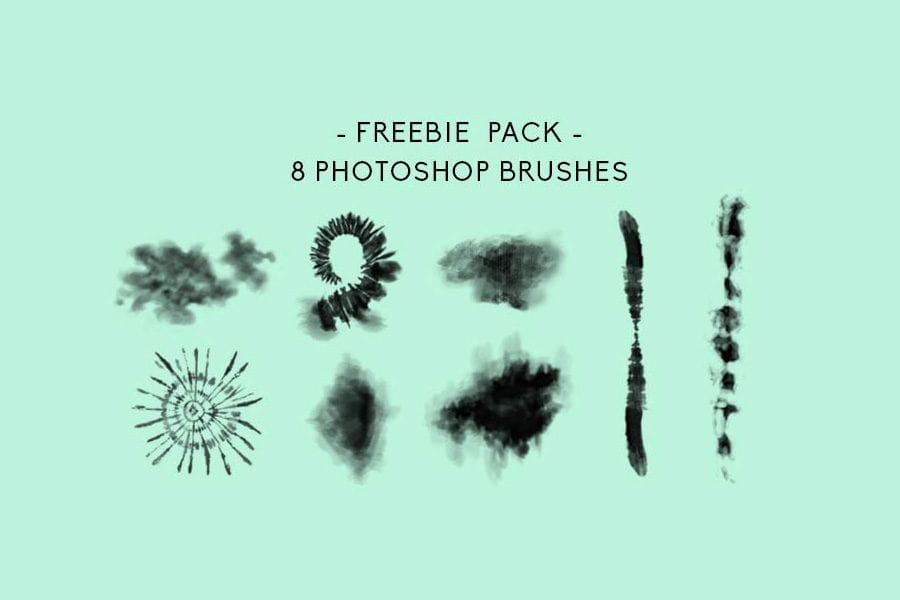 Set Of 8 Perfect Tiedye Photoshop Brushes Free Download