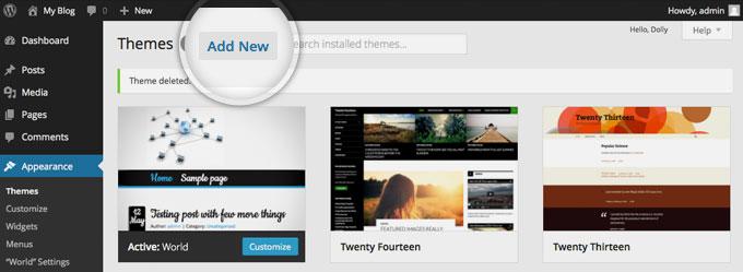 install wordpress theme 1