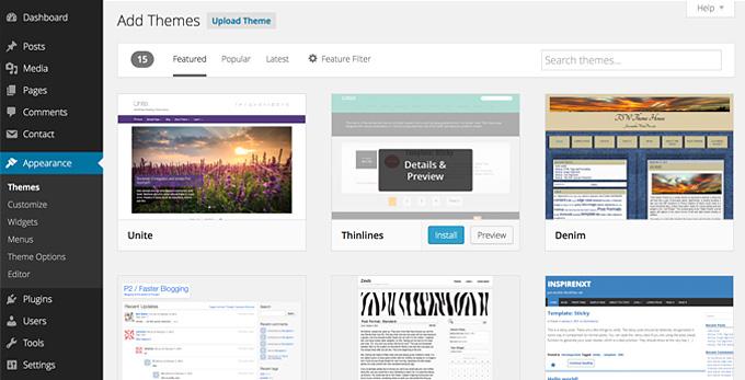 install wordpress theme 3