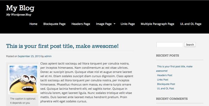 install wordpress theme 7