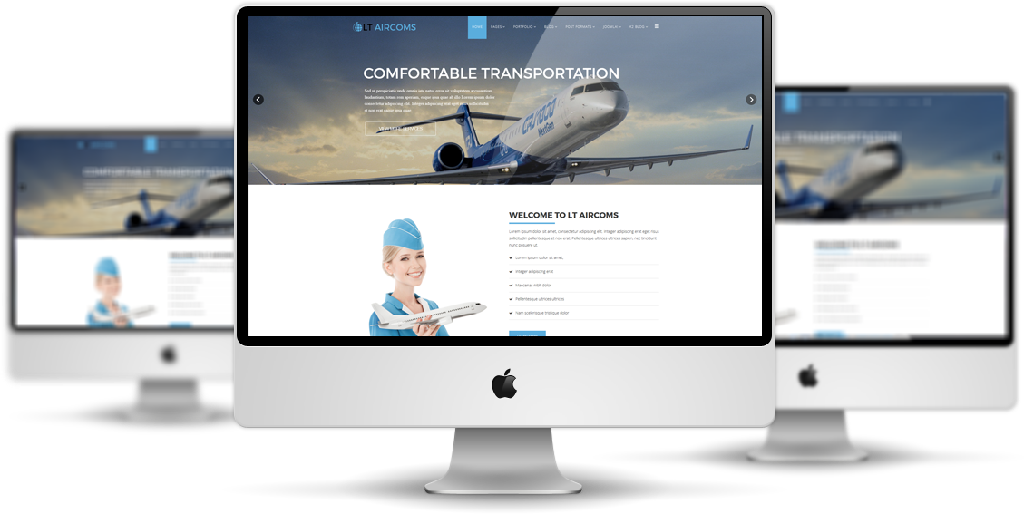 LT Aircoms – Premium Private Airplane Company / Air Transport Services Joomla template