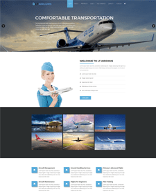 LT Aircoms – Free Private Airplane Company / Air Transport Services Joomla Template