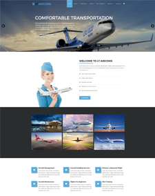 LT Aircoms – Free Responsive Private Airline WordPress Themes