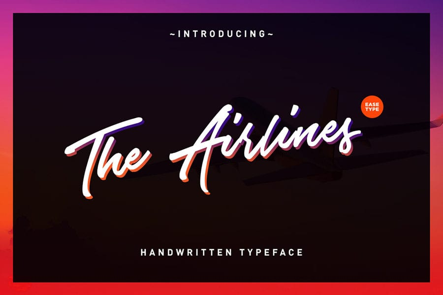 Airlines Script Typeface Free Download
