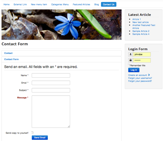 How To Create A Simple Joomla 3 Contact Us Page