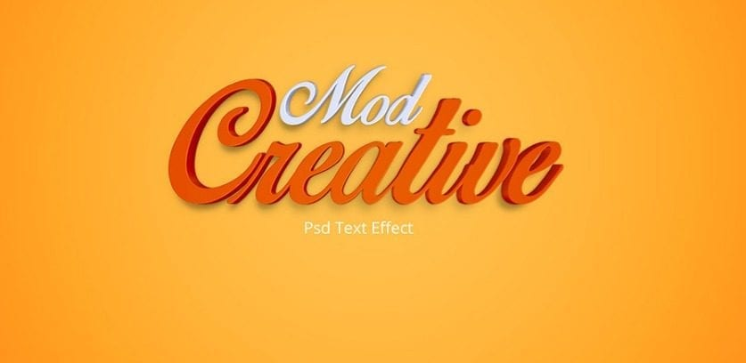 CreativeMod PSD Text Effects Free Download