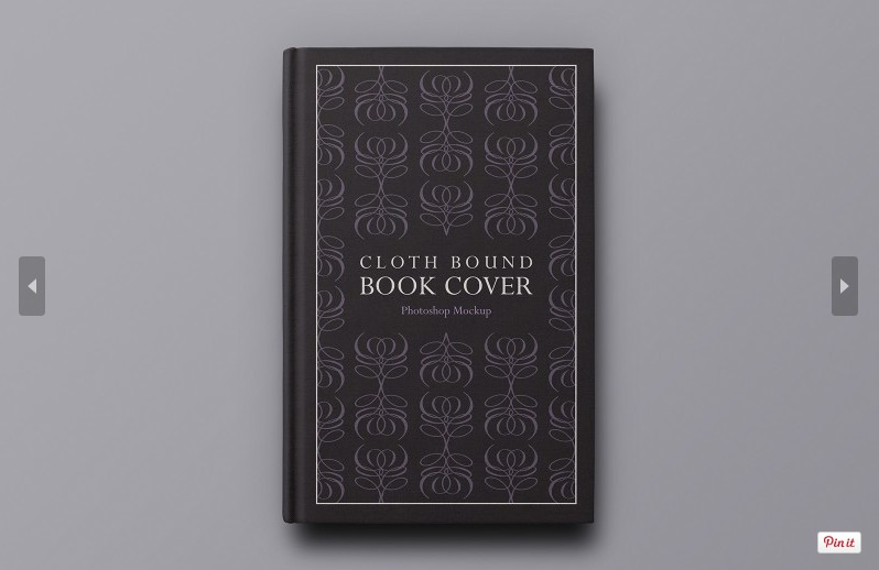 Hardcover Book Cover Template : Free hardback book cover mockup psd template responsive