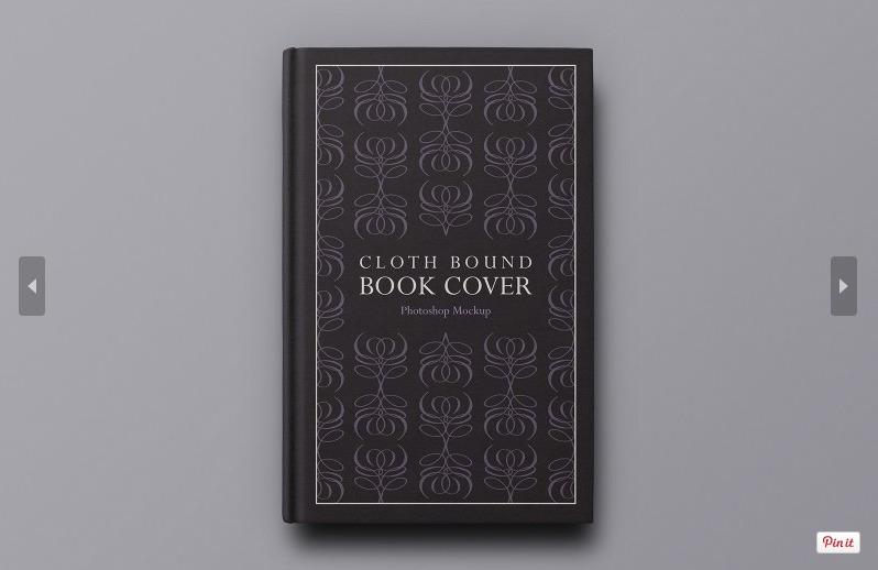 Book Cover Mockup Template : Free hardback book cover mockup psd template responsive