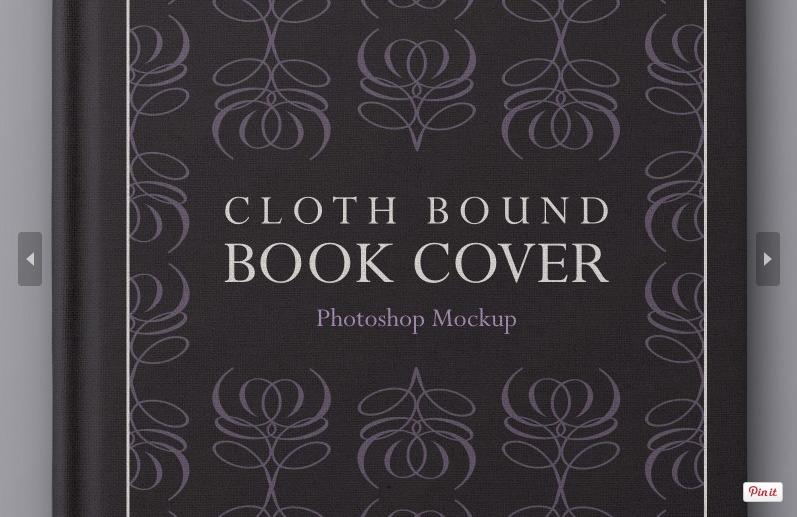 Free Hardback Book Cover Mockup PSD Template