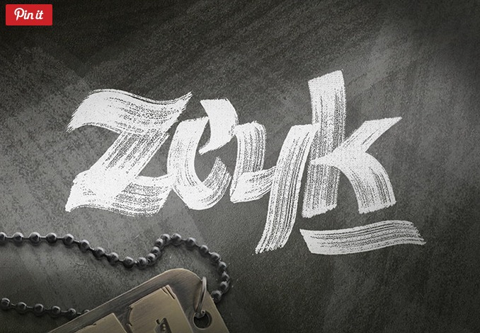 Zeyk Hand-lettered Brush Font