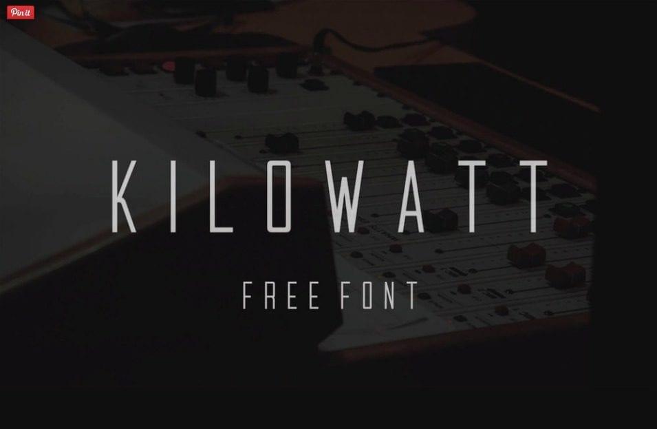 KILOWATT – Sans-serif Display Free Font