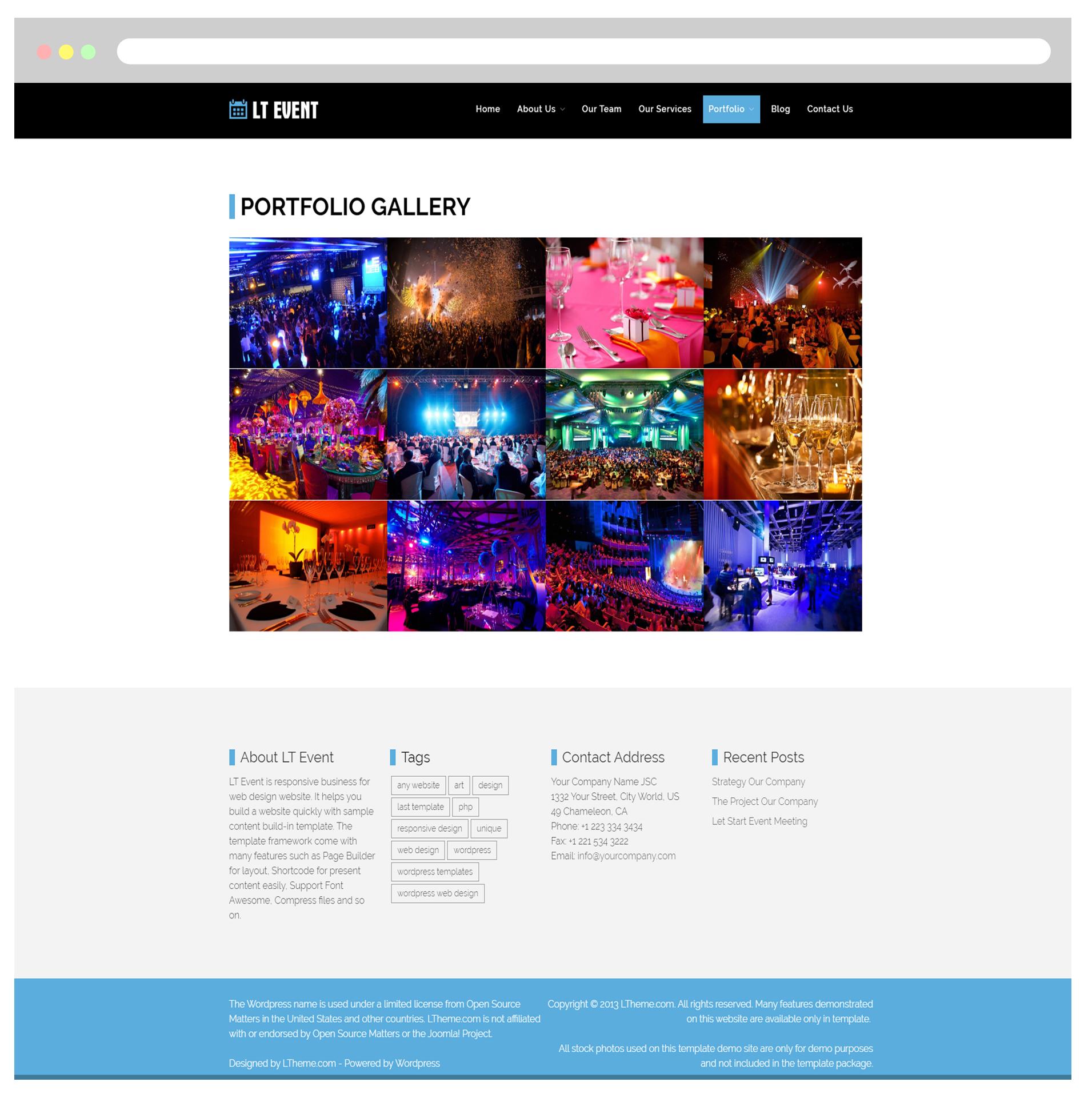 lt event free responsive onahah event wordpress theme