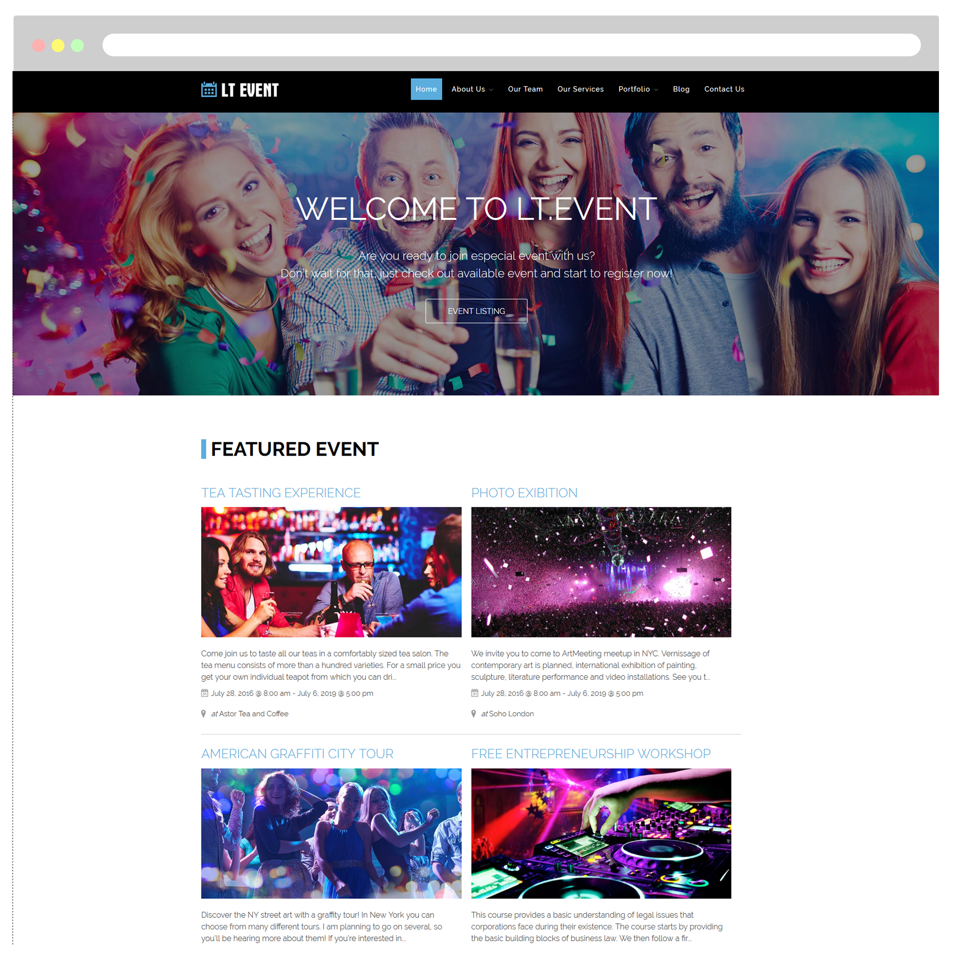 LT Event WordPress Theme