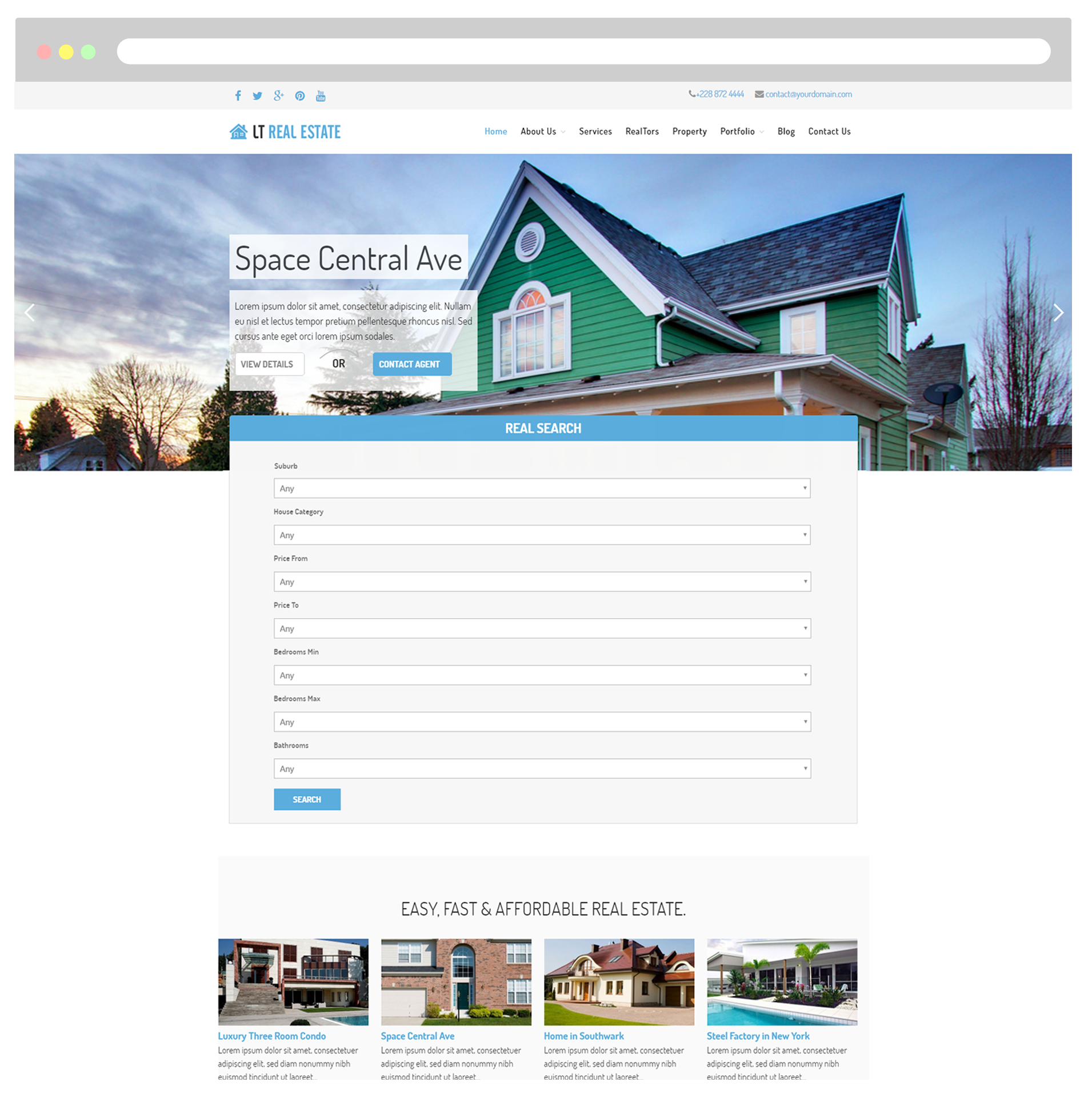 LT Real Estate WordPress Theme