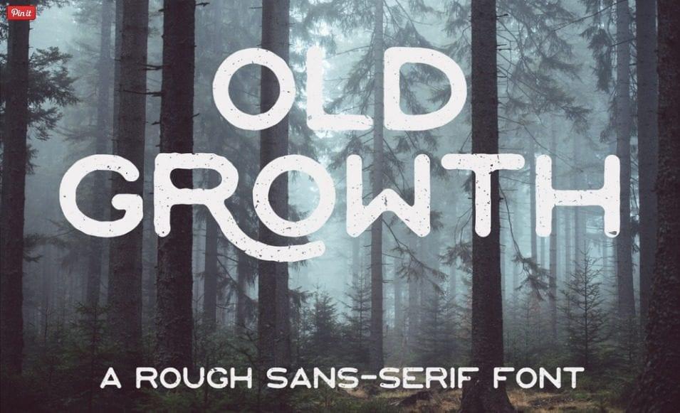 Old Growth – A Rough Sans-serif Free Font
