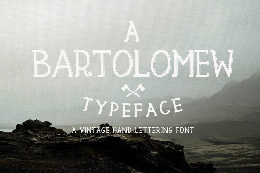 Bartolomew – Vintage Hand Lettered Free Font