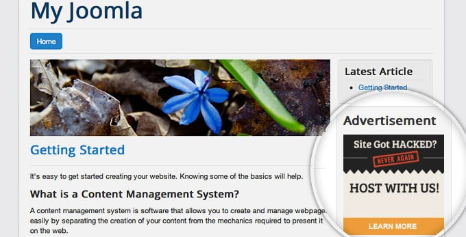 How To Add Joomla 3 Banner