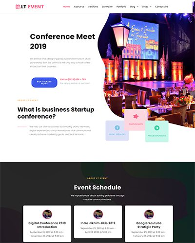 LT Event – Free Responsive The Events Calendar WordPress theme