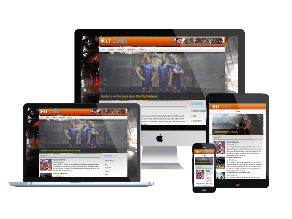 LT Games – Free Responsive Magazine / News Games WordPress theme