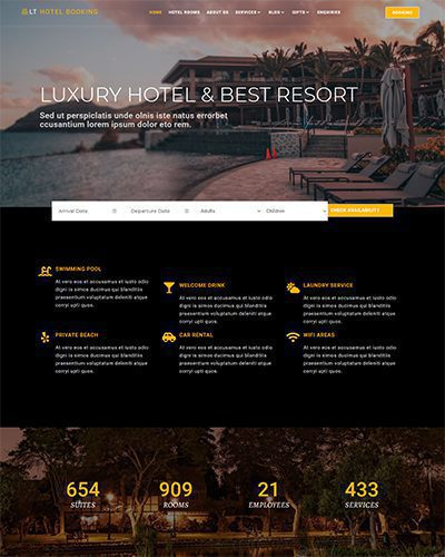LT Hotel Booking – Free Responsive Hotel WordPress Themes