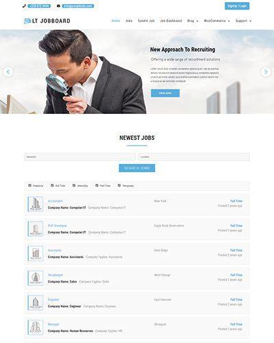 LT Jobboard – Free Responsive Job Portal / Job Board Joomla Template