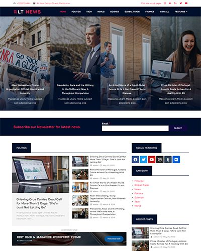 LT News – Free Responsive magazine wordpress theme
