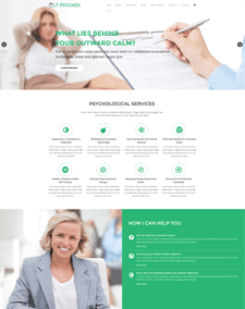 LT Psychex Single Page – Free Responsive One page Psychology WordPress Theme