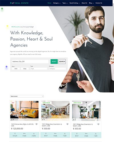 LT Real Estate – Free Responsive real estate wordpress theme