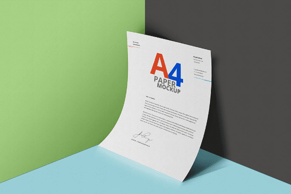 Simple Free A4 Paper Psd Mockup Template Ltheme