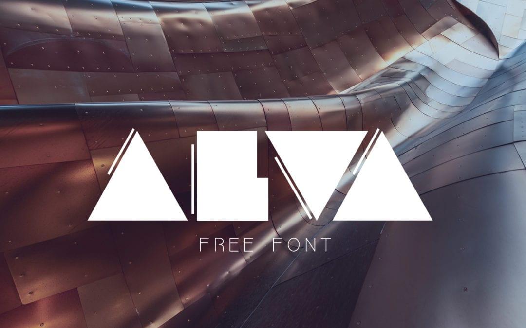 Alva – Free Geometric Font
