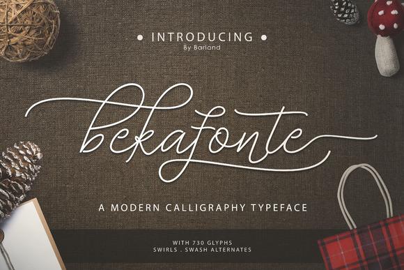 Bekafonte Free Hand Drawn Font